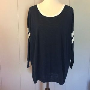 J CREW Oversized Lightweight COTTON Sweater sz XL